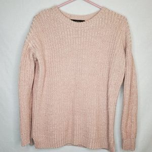 FOREVER 21 | Pink Knit crew neck sweater